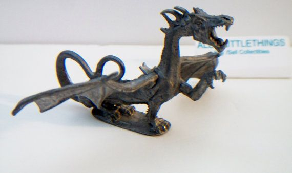 Vintage Pewter Dragon Ral Partha 1979 by ALEXLITTLETHINGS on Etsy
