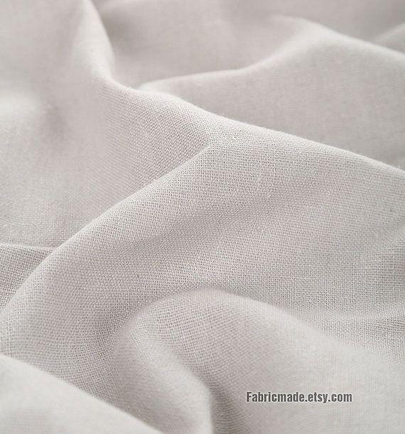 Light Grey Cotton Linen Fabric Basic Gray Fabric  A by fabricmade, $6.20