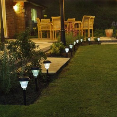 Bob's Tip of the Day: Solar-powered garden lights work on rechargable batteries—the batteries power the lights at night, then recharge themselves every day using light from the sun. Each fixture is standalone, so you can place a light anywhere you need it, as long as it gets enough sunlight during the day to charge up the batteries. Most provide at least enough accent light to add a safe, dramatic outline along a pathway.