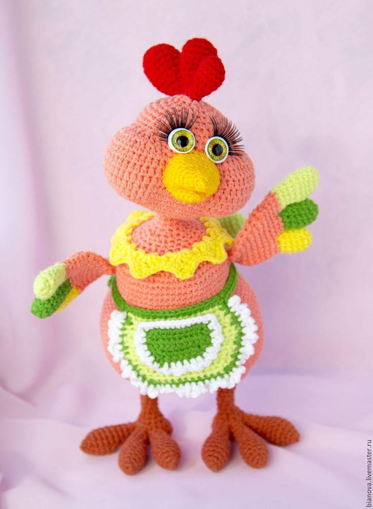 Купить Курочка Кира - рыжий, курочка, курица, вязаная игрушка, Вязаная курочка…