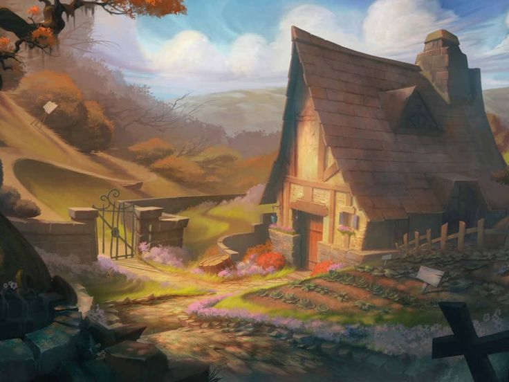 Papel de Parede Gratuito de Fantasia : Casa de Campo