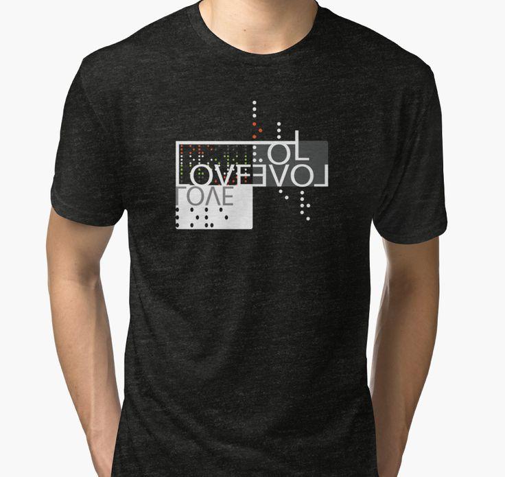 Love, Brail : Blind Love Is True T-Shirt by Black-Fox