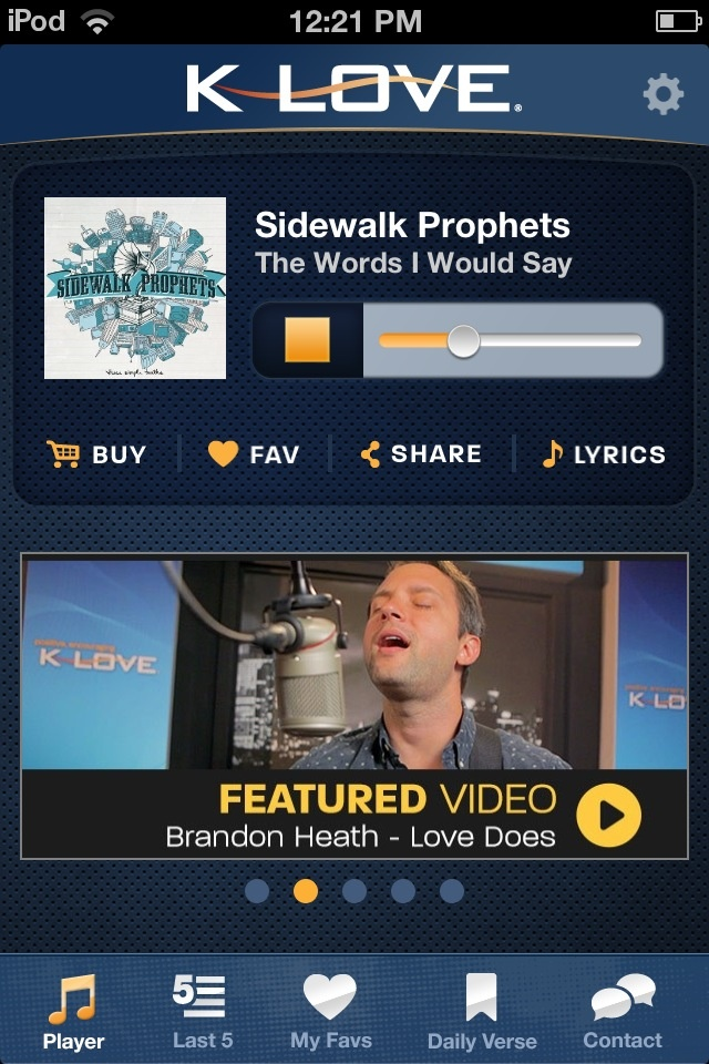 Klove app, get it for free in the app store if you love Christian music