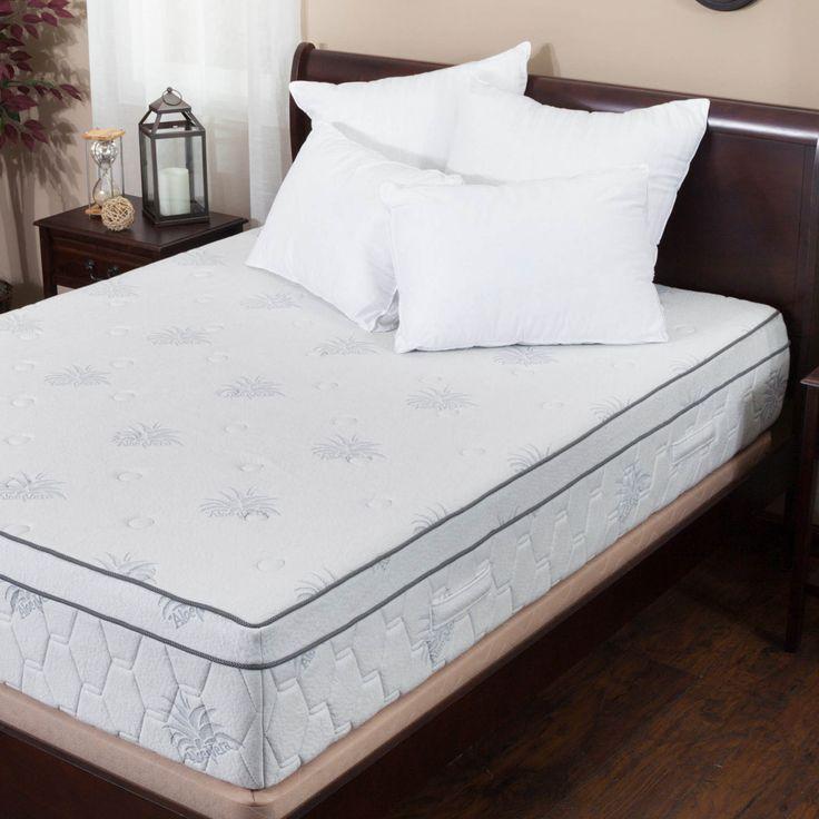 aloe gel memory foam 13inch kingsize pillow top mattress