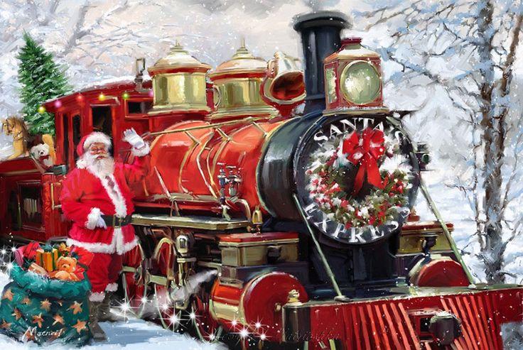 Железнодорожная открытка с новым годом
