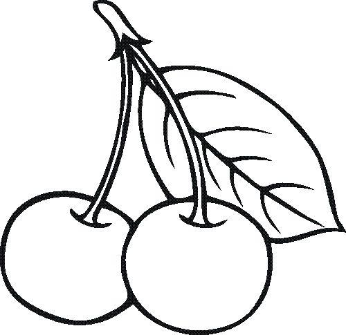 рисунок вишни для раскрашивания местный вид