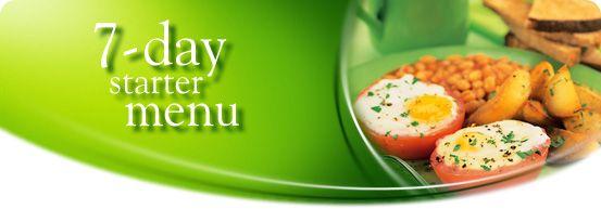 7-day starter menu--Slimming World Food Optimization
