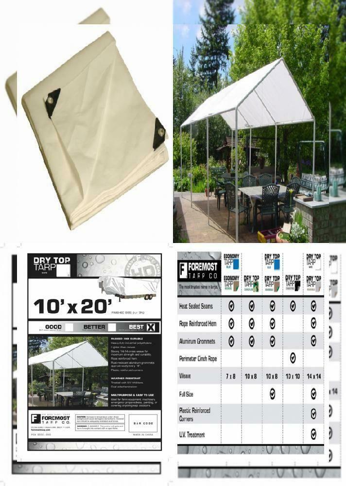 (Sponsored)(eBay) 10x20 MultiPurpose White Heavy Duty DRY