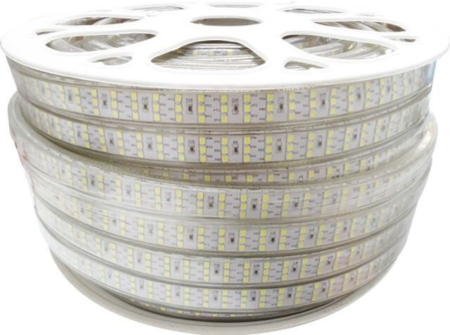 Pentru proiectele de iluminat in care ai nevoie de lumina alb rece intensa versus consum mic, BANDA LED 276x2835 18W ALB RECE 220V cu 276 LED-uri 2835/ metru si consum 18W/metru! Banda LED este alimentata la tensiune 220V.