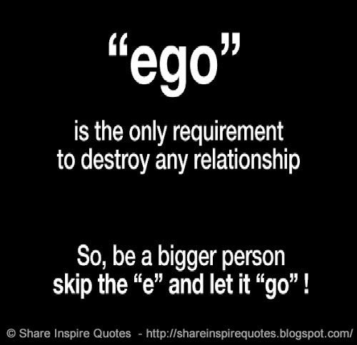 Dating someone with a big ego