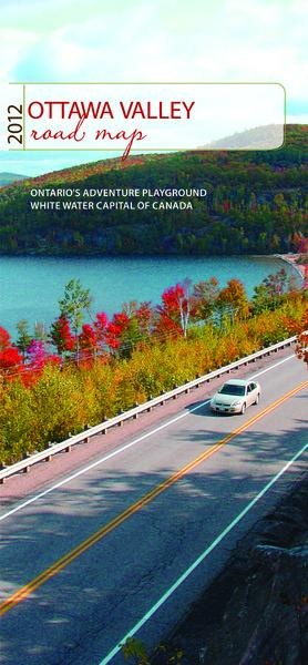 """The Ottawa Valley Road Map is your navigational tool when exploring the scenic Ottawa Valley countryside. It features a listing of accommodations, attractions and events, places to eat and much more. A """"must have"""" on your trip to the Ottawa Valley."""