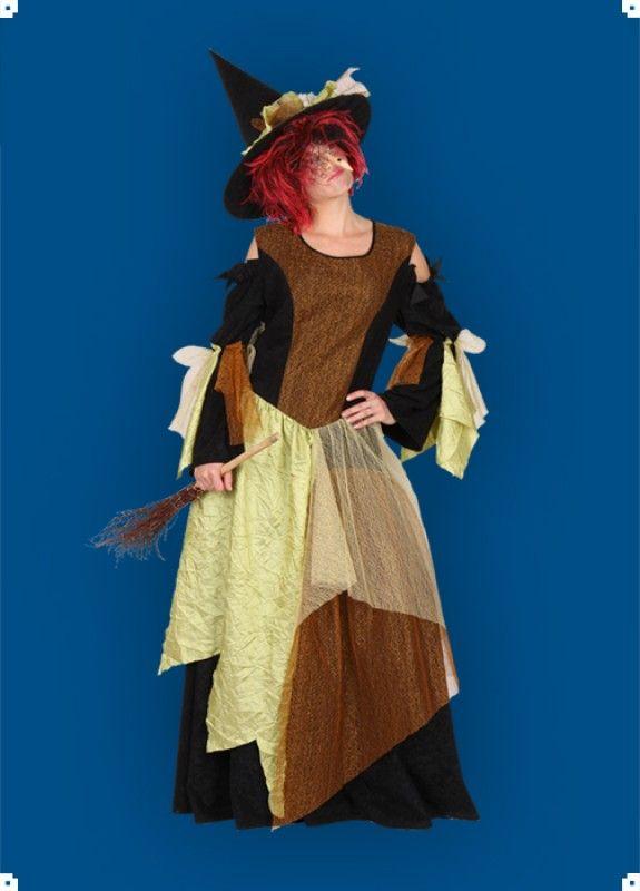 Karnevalový kostým pro dospělé. Čarodějnice - šaty, klobouk.   Kostýmy pohoda