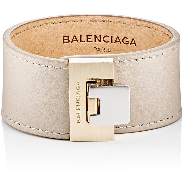 Balenciaga Le Dix Bracelet (1 005 SEK) ❤ liked on Polyvore featuring jewelry, bracelets, colorless, clear jewelry, balenciaga jewelry, two tone jewelry, polish jewelry and balenciaga