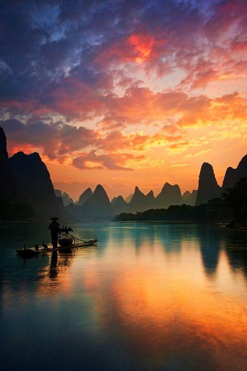 Guilin, China Cormerant fisherman