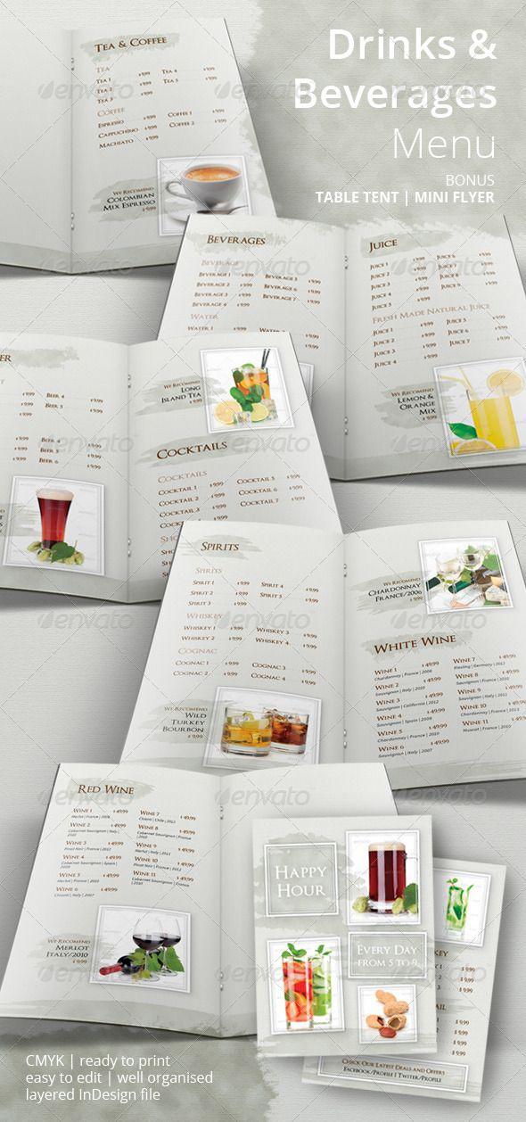 19 best Menu Template images on Pinterest Menu templates - drinks menu template