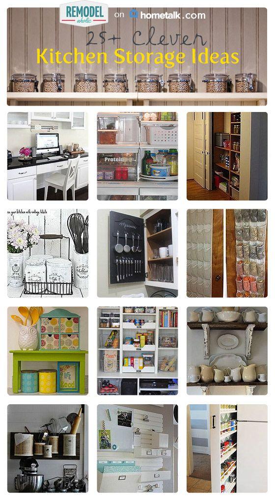 clever kitchen design. Clever Kitchen Storage Solutions  organization lots of unique helpful kitchen posts Best 25 storage ideas on Pinterest