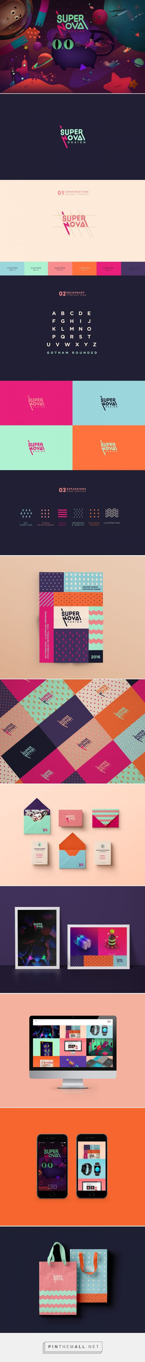 Supernova Design Branding on Behance | Fivestar Branding – Design and Branding Agency & Inspiration Gallery #fitness_logo_retro