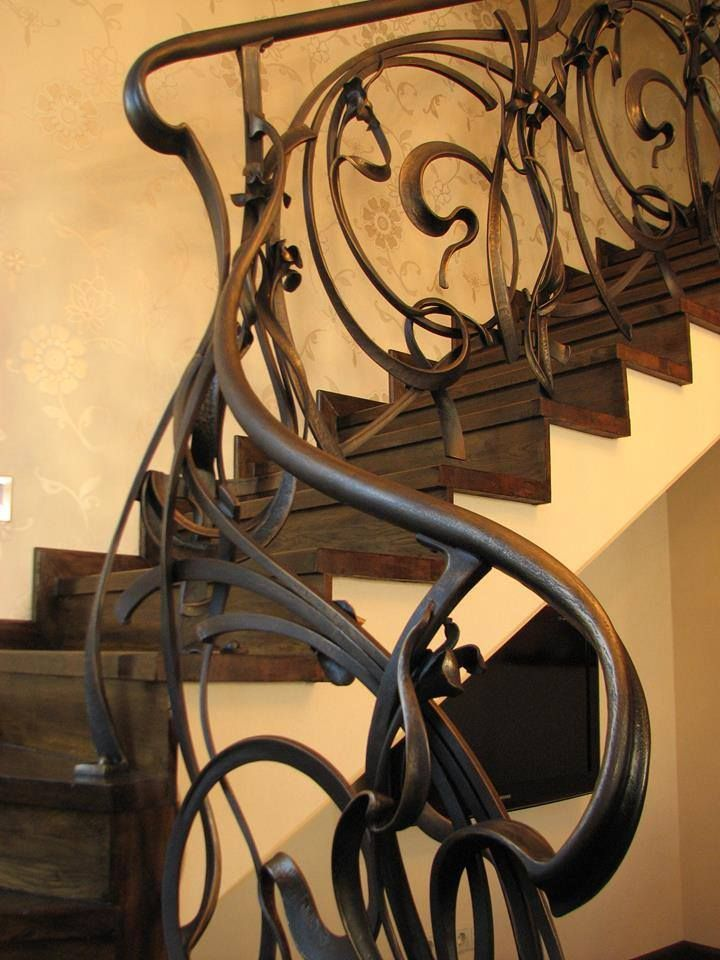 Forged stair rail by?