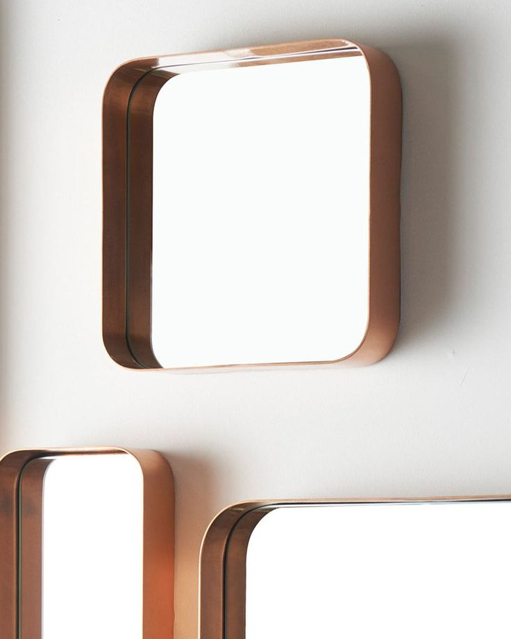 Kelly - Copper Framed Square Wall Mirror, Small | Free Delivery