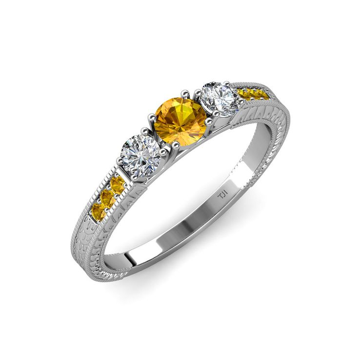 We are dedicated to providing you beautiful birthstone jewelry!! #diamond   #citrine   #3stonering   #november   #engagementring   #love   #trijewels