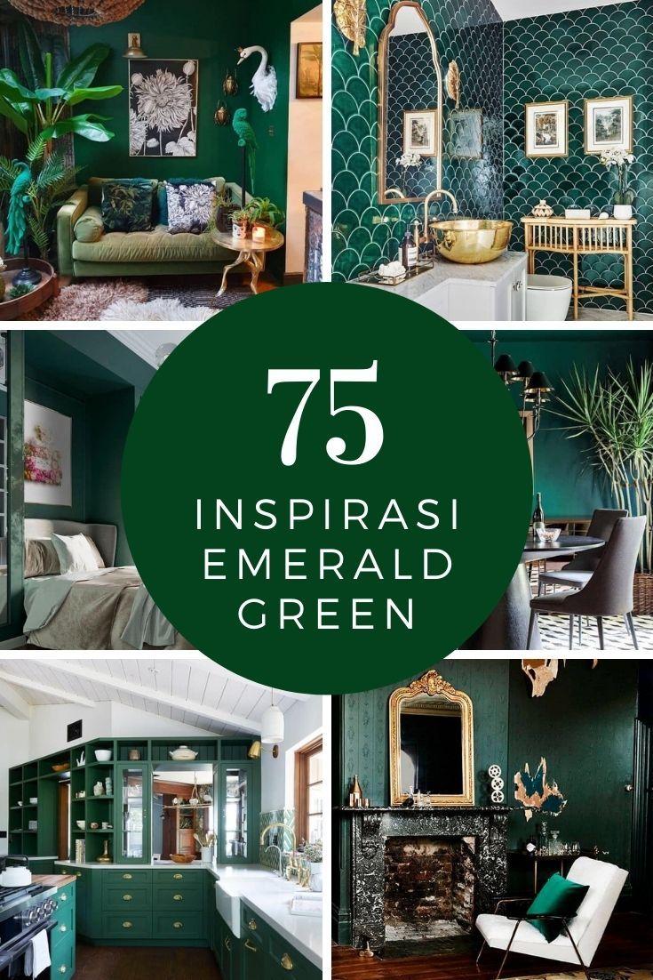 Skema Warna Hijau Emerald Green In 2021 Bungalow House Plans Green Deko Rumah