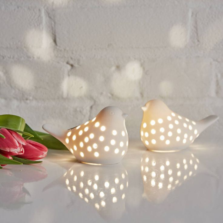 IDEAS - good night light? Ceramic LED battery operated Bird Light An unusual, eye-catching bird light ornament that will add an elegant yet fresh Scandinavian theme to your home.. £15.00