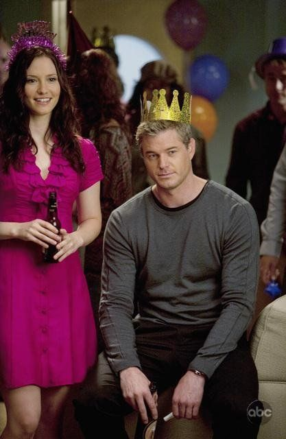 Still of Eric Dane and Chyler Leigh in Anatomía de Grey