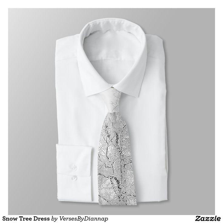 Snow Tree Dress Neck Tie