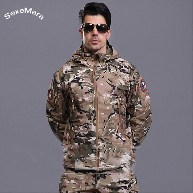 We love it and we know you also love it as well SexeMara Winter Army Softshell Militar Tactical Jacket Men Casual Hooded Mens Outdoors Jackets Chaqueta Hombre Waterproof Coats just only $39.00 with free shipping worldwide  #jacketscoatsformen Plese click on picture to see our special price for you