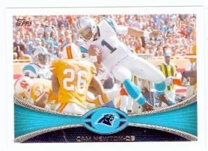 Cam Newton football card (Carolina Panthers) 2012 Topps #250 Rookie of the Year by Hall of Fame Memorabilia. $30.95. Cam Newton football card (Carolina Panthers) 2012 Topps #250 Rookie of the Year. Signed items come fully certified with Certificate of Authenticity and tamper-evident hologram.
