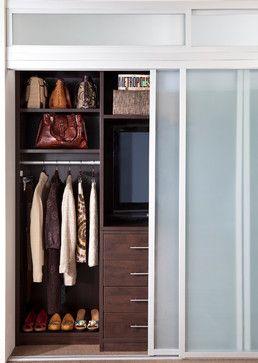 Combination Reach-In Closet and Entertainment Center - contemporary - closet - new york - transFORM | The Art of Custom Storage