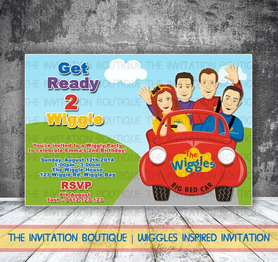 The Wiggles Inspired Printable Invitation by TheInvitationBoutiqu