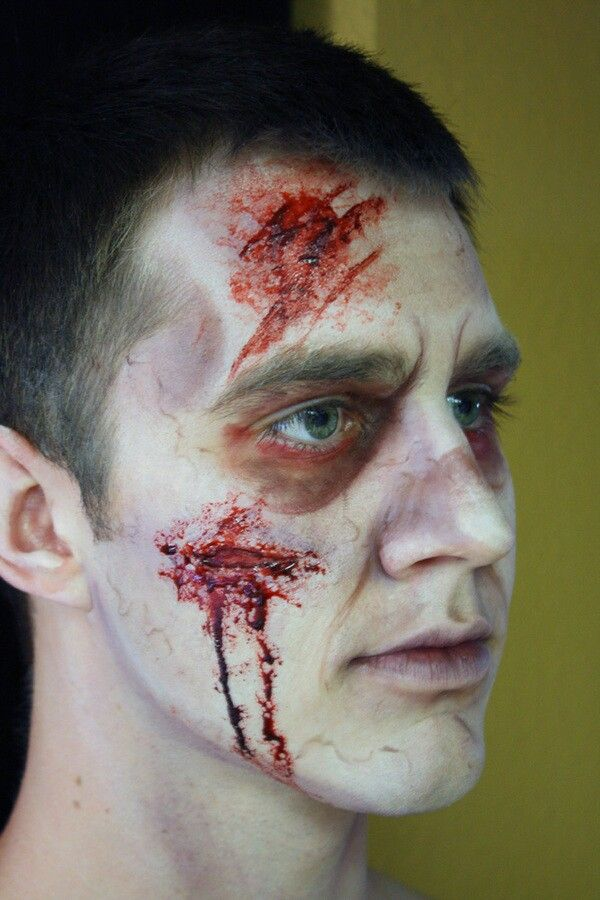 makeup and skin with zombie makeup step by step with 15 easy step by step halloween make up tutorials for beginners 2014 14 - Halloween Effects Makeup