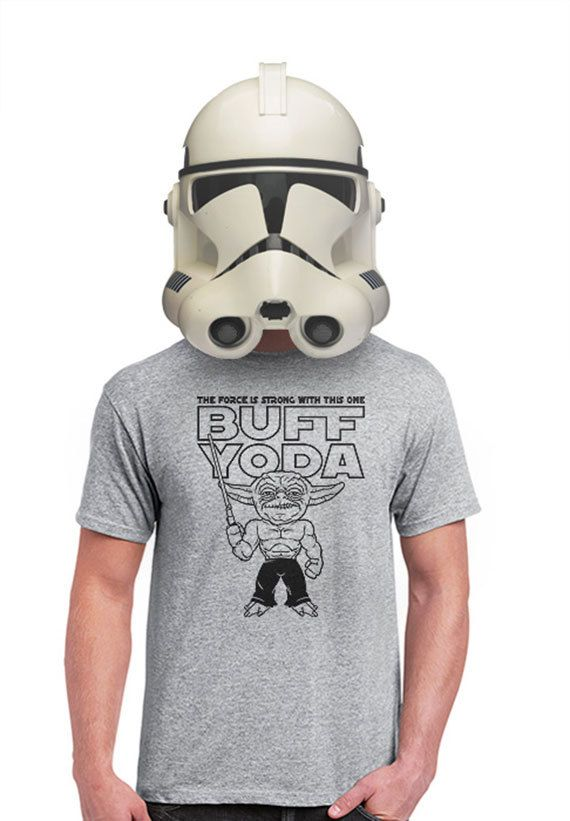 yoda t-shirt star wars tshirt the force is strong in by apesnort