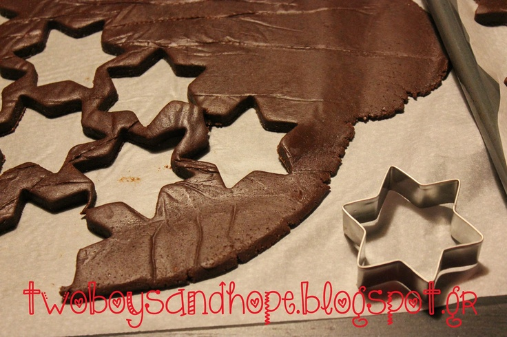 2 boys + Hope: Χριστουγεννιάτικα μπισκότα σοκολάτας...