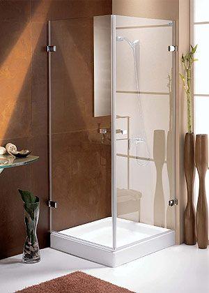 Precios de Mampara ducha hojas batientes para plato en esquina - Ideal Mamparas