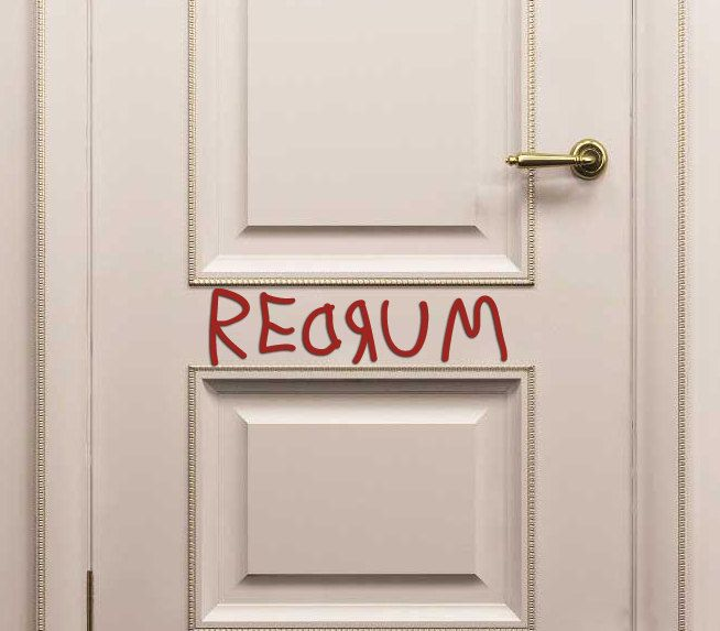 REDRUM Door Decal From The Shining. Halloween Bathroom DecorationsBathroom  ...