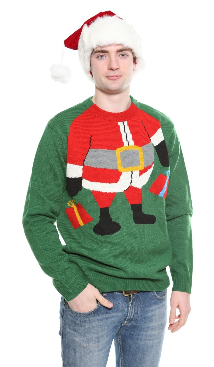 Funny Christmas Party Outfit Ideas Part - 22: Santa Sweater