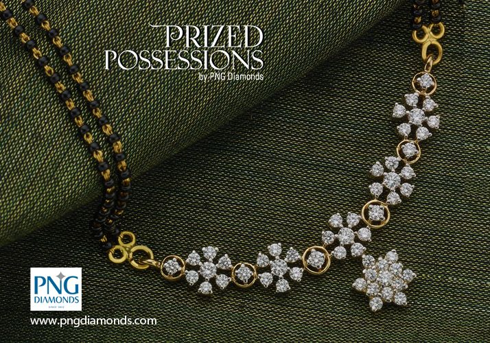 10 Different Styles Diamond Mangalsutra | Jewellery Designs
