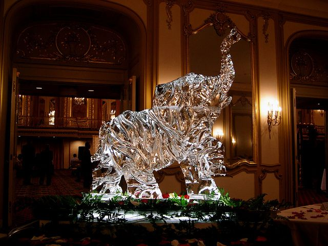 elephant ice sculpture wedding - Google Search