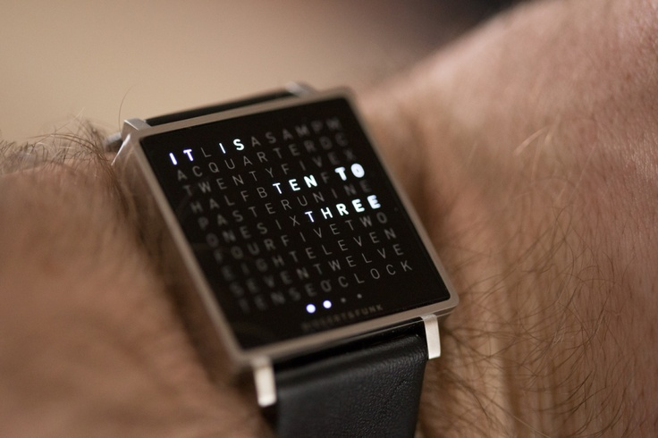 Qlock two-Gorgeous watch screen.