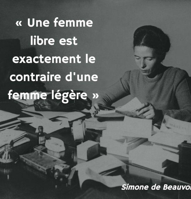"""Simone de Beauvoir : """"Une femme libre est exactement le contraire d'une femme légère"""""""