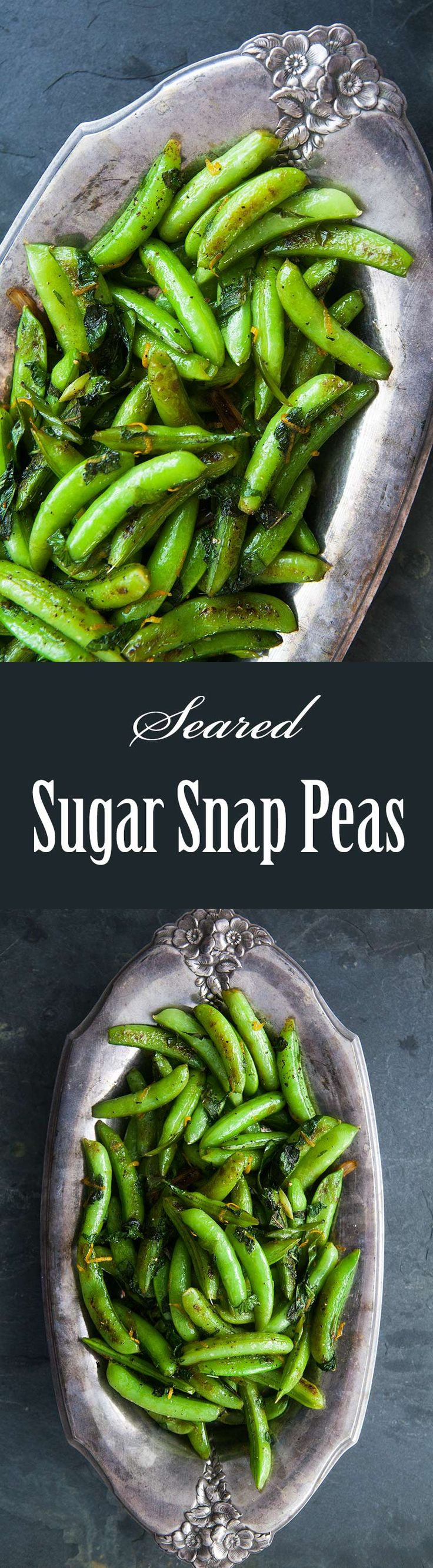 Seared Sugar Snap Peas ~ Sugar snap peas seared in olive oil with ...