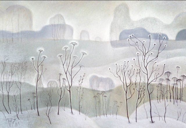 "Winter grass. From the ""Transparency"" by Boris Smirnov Rusetsky"