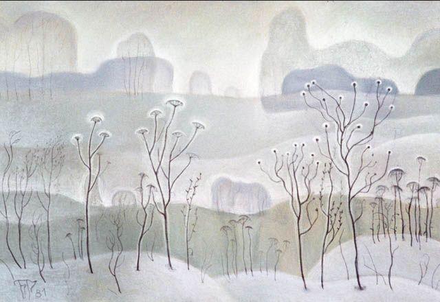 "Winter grass. From the ""Transparency"" by Boris Smirnov Rusetsky"