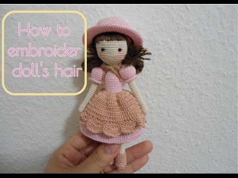 Amigurumi Hair Tutorial : 112 best ♡ wool doll hair tutorial ♡ images on pinterest doll