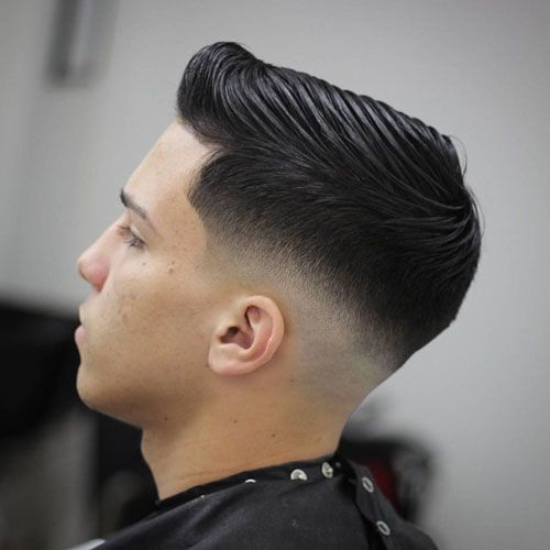Low Bald Fade with Side Swept Hair