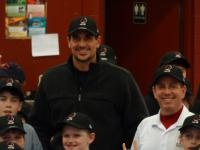 Minnesota Twins pitcher Carl Pavano joins Pitch In For Baseball in Ludlow, Vermont to distribute equipment to the local Babe Ruth league.