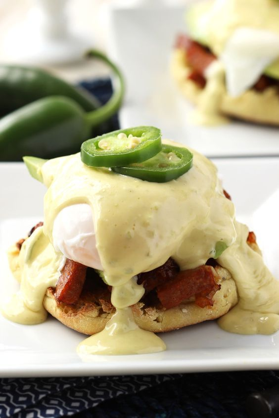 Add a little southwestern flair to your favorite brunch recipe, this Eggs Benedict has a bit of heat to make your Sunday extra spicy!   @suburbansoapbox