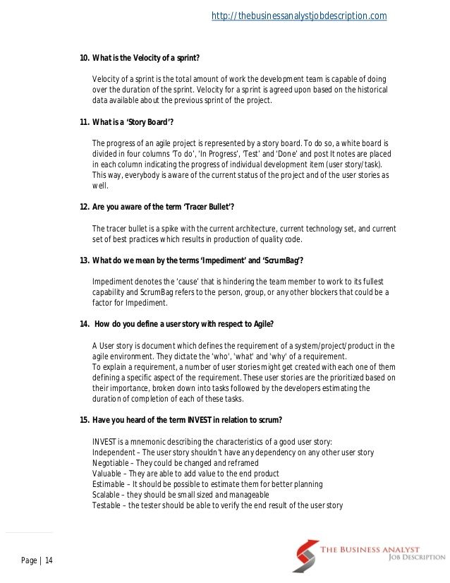 Business Analyst Interview Questions And Answers Business Analyst Interview Questions Business Analyst Interview Questions And Answers